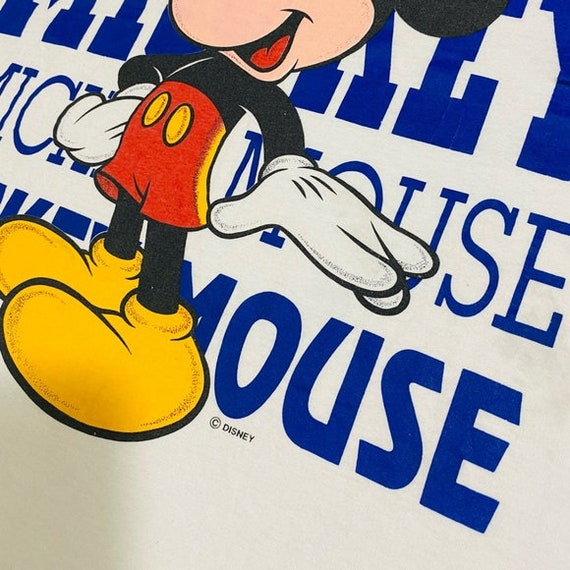 Vintage Mickey Mouse T Shirt Graphic Disney Tee - image 5