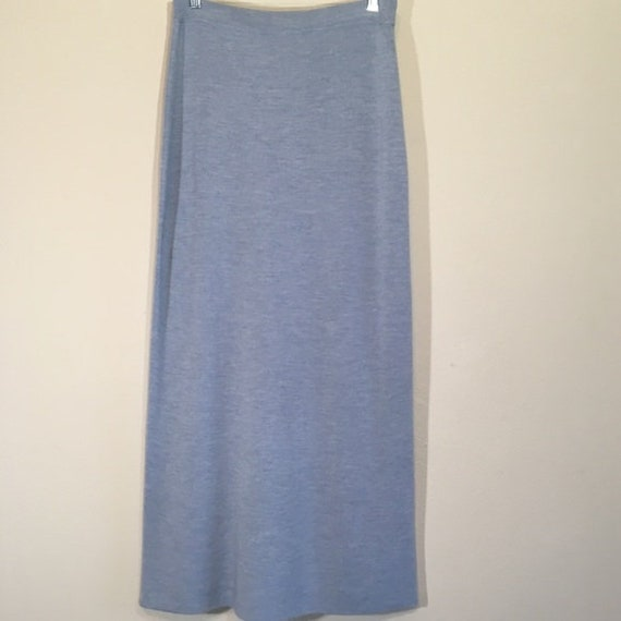 Vintage Wool Maxi Skirt Olsen Stretch Minimalist