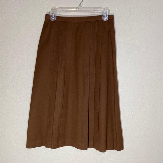 Wool Blazer Skirt Set Pleated Midi Matching Suit - image 10