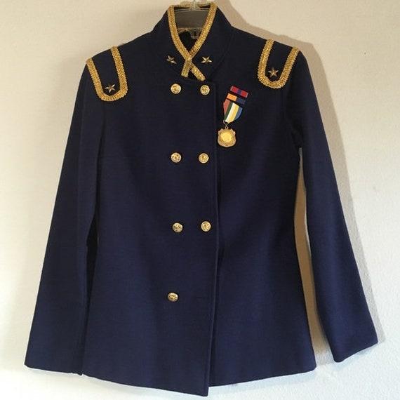 50s Vintage Jacket Military Blazer Embellished