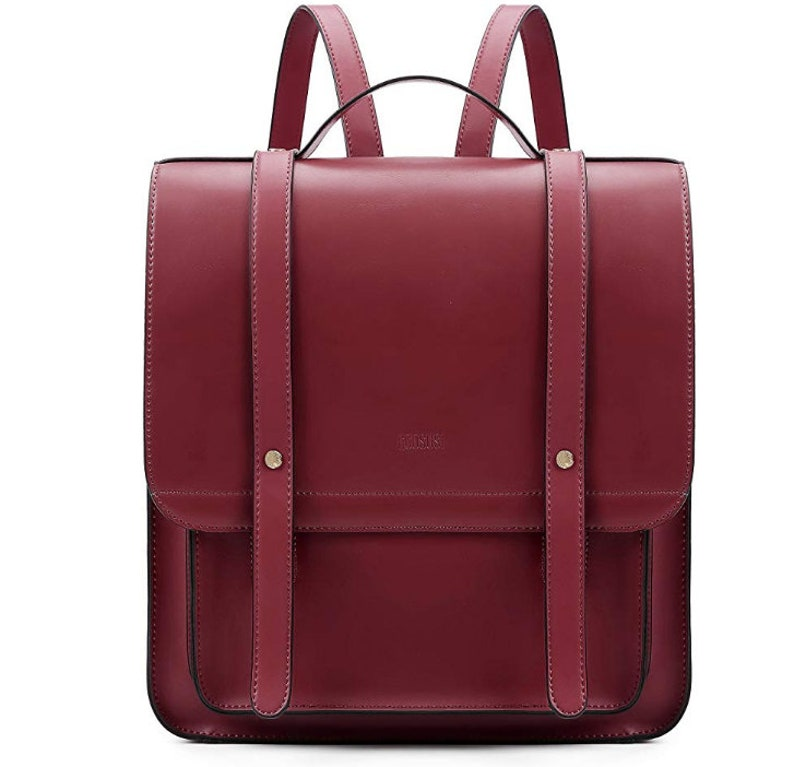 Messenger Bag Fits up to 14 Inch Women Briefcase Laptop Tote bag Backpack PU Leather Satchel Handmade tote bag Laptops with Small Purse