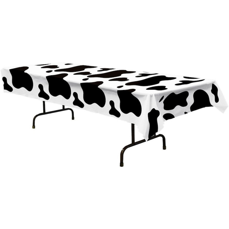 dinnerware set Cow Table Cover cow print birthday party Cow themed party farm birthday party Barnyard party 1ct cow birthday decor
