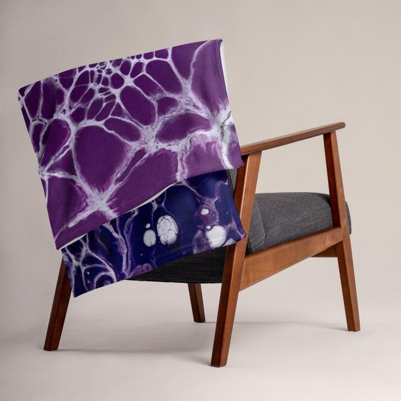 Decorative Throw Flow State Living Room Lap Blanket Interior Design Lavender Beach Throw Blanket Fluid Art Bedroom Designer Throw