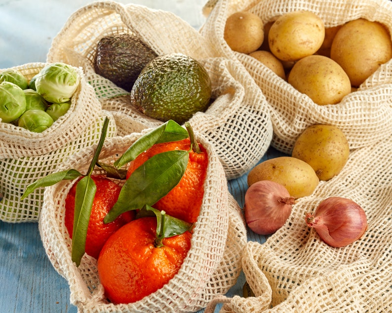 Zero Waste Produce Bags Plastic Free Sustainable Gifts image 0