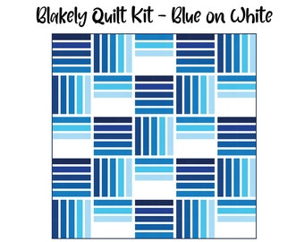 Blakely Quilt Kit - Blue on White (Throw & Queen size) -- Ft. Then Came June