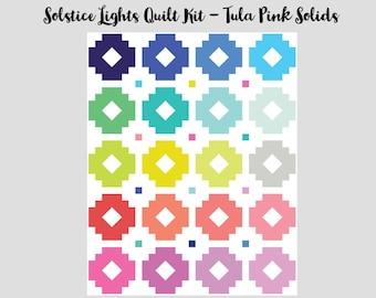 "Solstice Lights Quilt Kit (62"" x 78"") - Tula Pink Solids"