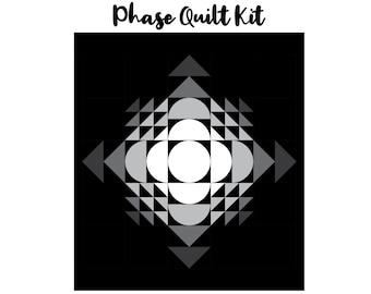 """Phase Quilt Kit (64"""" x 72"""") - Black & White"""