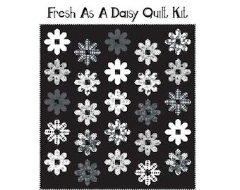 "Fresh As A Daisy Quilt Kit (59.5"" x 63.5"") - Black & White"