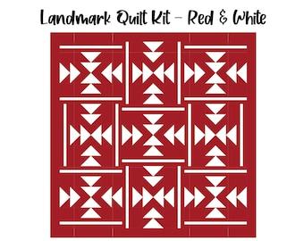 """Landmark Quilt Kit (60"""" x 60"""") - Red & White"""