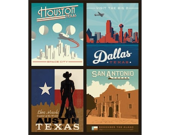 Texas Cities Pillow Panel -- Destinations 3 by Riley Blake Designs