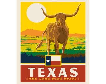 "Texas Lone Star 36"" Panel -- Destinations 3 by Riley Blake Designs"