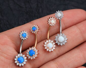 Surgical Steel Navel Rings Crystal Belly Button Ring Bar Piercing Jewelry FG TD