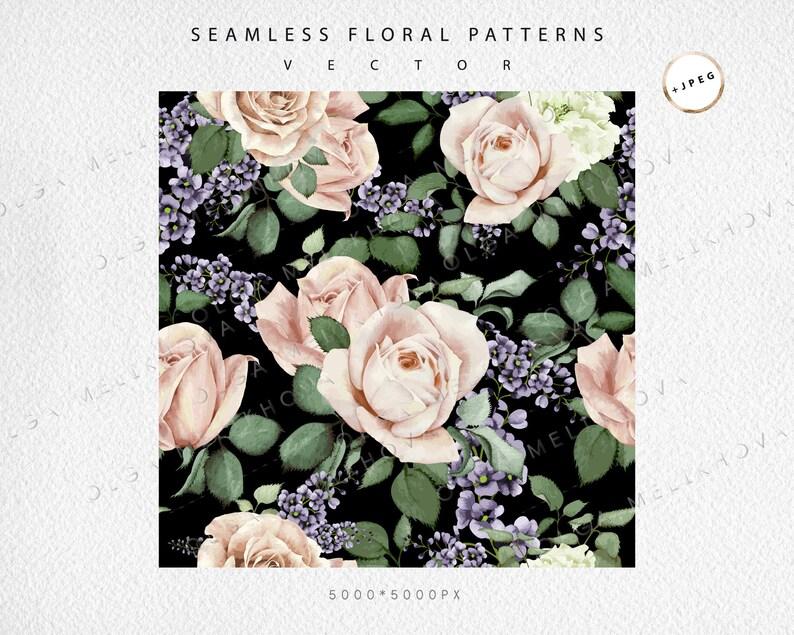 +JPEG Vector floral patterns