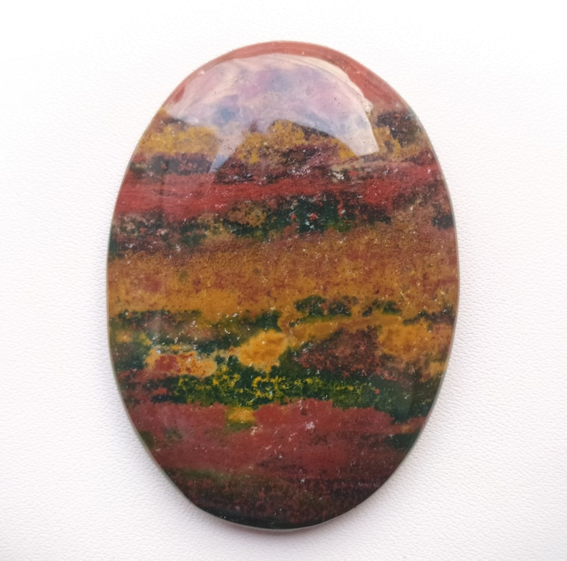 natural bloodstone oval shape For Jewelry Cabochons Loose Gemstone top quality Handmade gemstone jewelry 46m 85ct