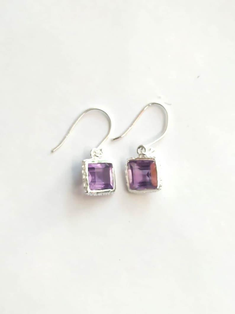 Amethyst Earrings Silver Jewelry Women Earring Silver UK Handmade Jewelry Gemstone Earring Gemstone Stud Earring Jewelry