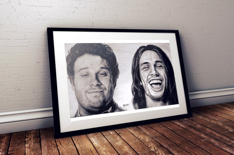 Pineapple Express Pencil Portrait PRINT Hyperrealistic image 0