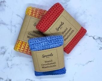 Homemade crochet washcloths, baby, adult, gift, dishcloth, camping, eco living