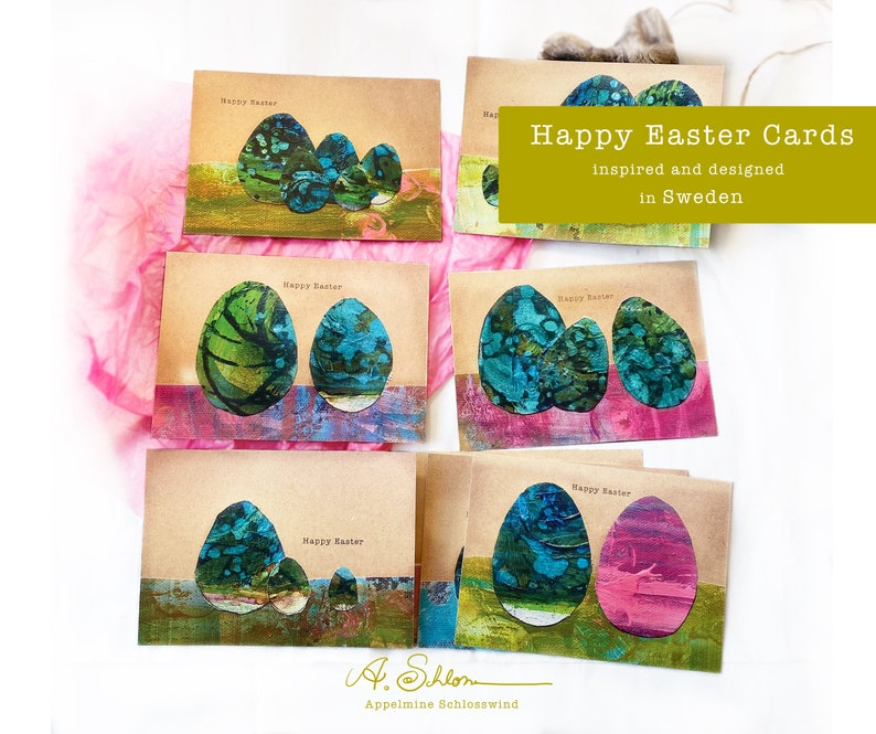 Easter Happy Easter Card Set  8 Pack Easter Cards  Easter image 0