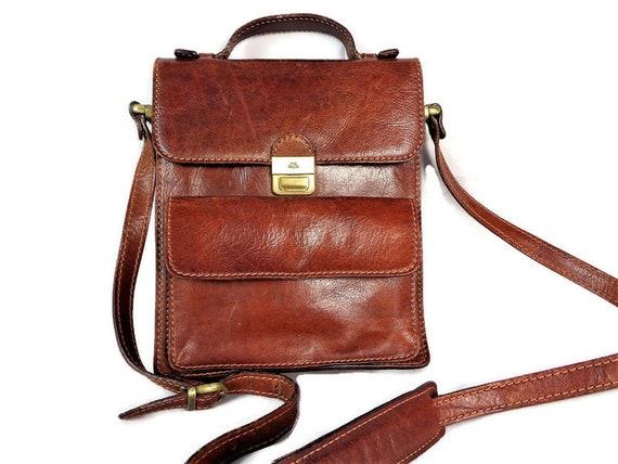 Vintage The Bridge Mens Shoulder Bag, Brown Leathe