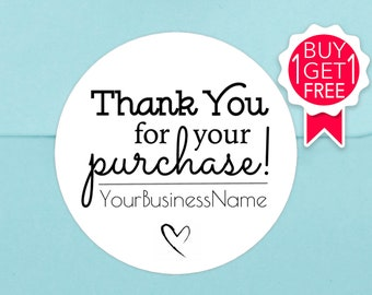 Thank You For Your Purchase Stickers Etsy