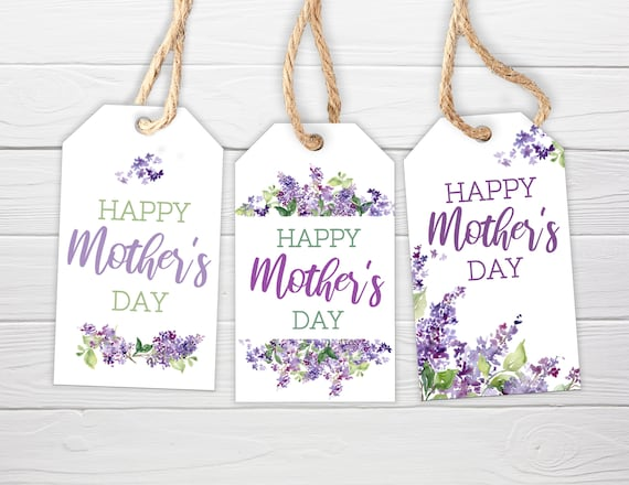 Mother's Day Gift Tags / 3 Styles / Happy Mother's Day