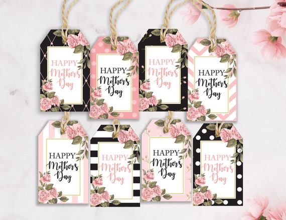 Mother's Day Gift Tags / 8 Styles / Happy Mother's Day