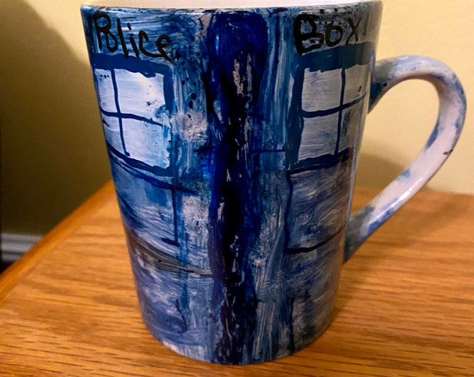 Dr. Who Inspired Mug- Tardis