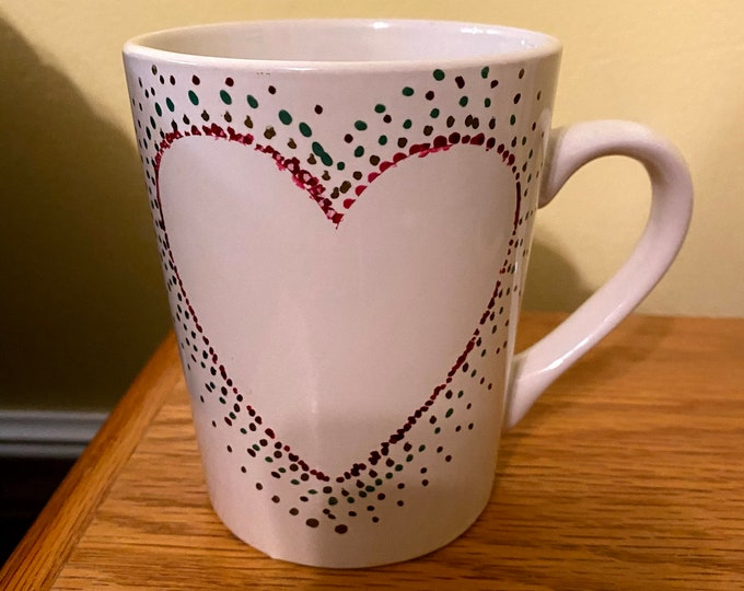 Heart Hand Painted Mug