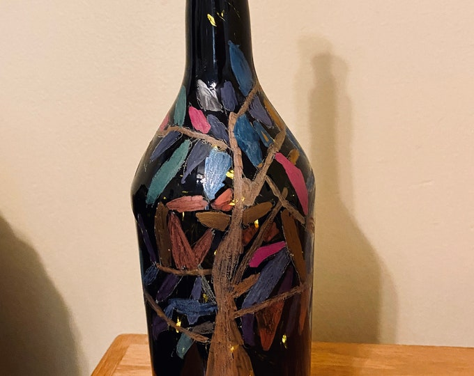 Hand painted light up bottle