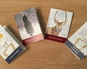 Mixed pack of 10 artist designed small (A6) Christmas cards