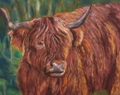 Top quality giclee print of 'The Highlander' a painting by artist Janet Bird