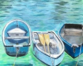 Giclee print of 'Three Boats'