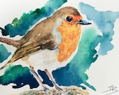 Giclee print of 'Cheeky Robin'