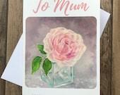 To Mum greeting card by UK artist Janet Bird