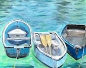 Giclee print of 'Three Boats'