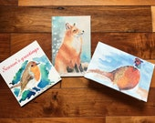 Pack of three artist designed Christmas cards