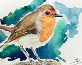 Giclee print of 'Cheeky Robin'