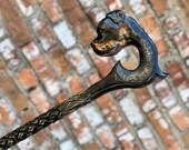 Walking cane for men Walking stick Dog Walking cane cool Gift for grandpa Walking cane Dog Hand carved walking cane rottweiler Gift for men