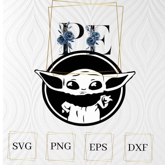 Baby Yoda Svg Png Eps Mandalorian Baby Yoda Cut File Etsy