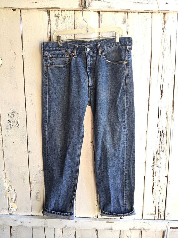 Vintage 90's Levi's 505 Men's Size 36x30, Blue Boo