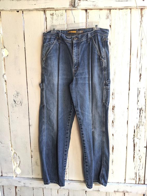 Vintage 90's Cargo Jeans Men's Size 36x30 Levis Si