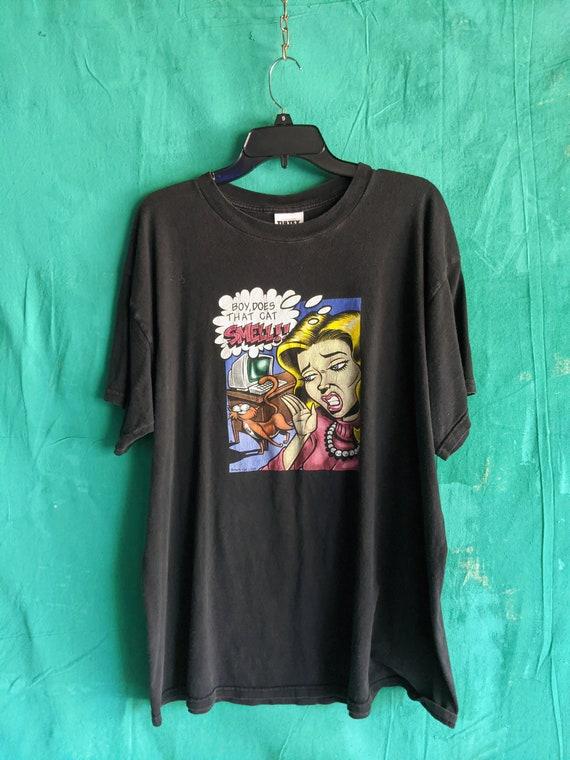 Smelly cat t-shirt, Comic cat shirt, Vintage Cat S