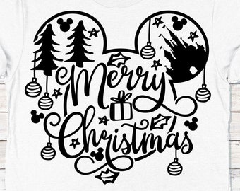 Merry Christmas svg inspired by magic svg PNG Sublimation graphic Mickey Doodle svg Mickey Head svg castle svg castle Commercial Use file