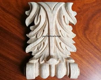 1-116 carved cover ornament trim decoration rose antique vintage retro OAK WOOD ROSETTE