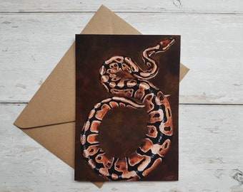 Snake/ Python Greeting card