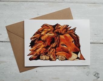 Lion greeting card / Birthday Card