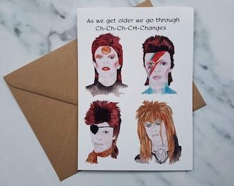 David Bowie Birthday card