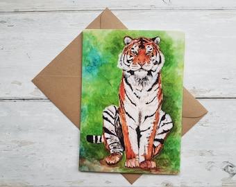Tiger / Birthday card / Greeting card