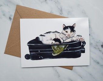 Black and White Card Card / Birthday card / Cards for her