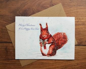 Squirrel / Cute/ Christmas card